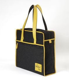 SAC WEEK-END LAINE MOUTARDE / Nomade Collection / MY BIOTIFUL BAG