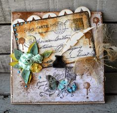 Crafting ideas from Sizzix UK: Vintage postcard