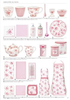Abelone pattern in pure pink by Green Gate