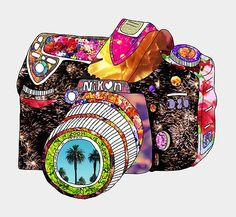 Nikon camera doodle