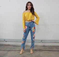 Your Favorite Star's Height! Child Actresses, Child Actors, Barcelona Outfit, Kathryn Bernardo Outfits, Boyfriend Jeans, Mom Jeans, Love Fashion, Fashion Models, Filipina Actress