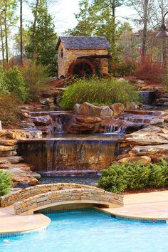 Stunning pool and waterfalls.