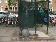 "old traditional dutch public toilet for men ""de Kru l"" [museumsquare amsterdam / near concertbuilding]"