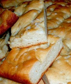 Focaccia | Pamela's Products  this is good but needs to be an a 10x15 pan...not a 9x9!