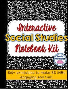 Interactive Social Studies Notebook Kit -- 100+ Printables