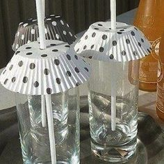 Keep bugs out of your drinks with cupcake liners. | 37 Ways to Have the Most Delightful Picnic Ever