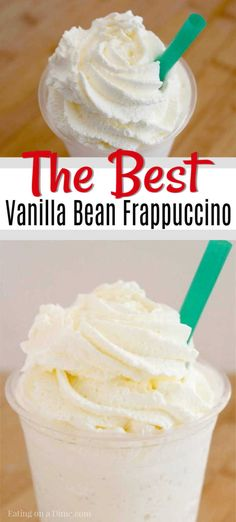 If you love Starbucks you should try this copy cat starbucks vanilla bean frappuccino recipe. It's quick and easy to make this Vanilla Bean Frappe recipe.