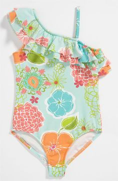 Love U Lots One Piece Swimsuit (Toddler) available at Nordstrom