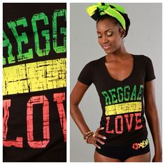 """Cooyah """"Reggae Love"""" t-shirt $24.95 at cyevolution.com  100% COTTON COMBED RELAXED FIT  RED, GOLD & GREEN REGGAE LOVE  DISTRESSED BIG PRINT AT FRONT. #Rasta #Fashion #style #shirt #design"""