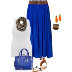 plus size spring blues/belt style by kristie-payne on Polyvore featuring Suncoo, Castañer, River Island, ALDO, maria-xuan, MICHAEL Michael Kors and BKE