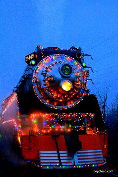 Holiday Express Train at Oaks Park at Christmas Time!