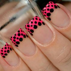 If you're a beginner, then this one is for you. Here comes one of the easiest nail art design ideas for beginners. There are so many creative ways to decorate your nails, and you can make them look differently every… Read more › Funky Nail Art, Funky Nails, Easy Nail Art, Bright Nails, French Nail Art, French Tip Nails, Diy Nail Designs, Simple Nail Art Designs, Pretty Nail Colors