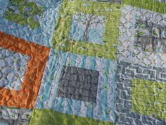 Love this quilt!!!! Backyard Baby Lap Crib or Toddler Bed Quilt by ModernMaterialGirl, $148.00
