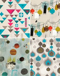 Surface design patterns from Dante Terzigni. Love his sense of color and shape.