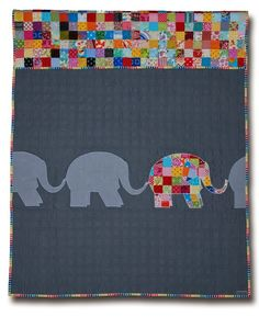 Love the one patchwork elephant - So cute!