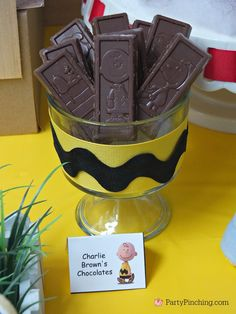 Charlie Brown's Chocolates, Nestle Crunch Peanuts Movie Candy Bars  - The Peanuts Movie Party by PartyPinching.com