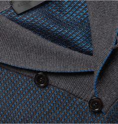 Alexander McQueen Jacquard-Knit Wool and Silk-Blend Sweater | MR PORTER