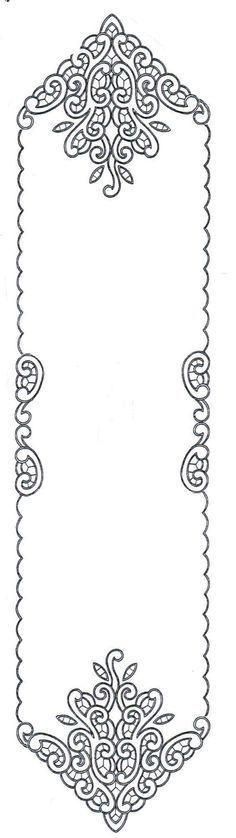 Štola Richelieu, 140 x 32 cm cut work emb. Cutwork Embroidery, White Embroidery, Embroidery Patterns, Machine Embroidery, Crochet Patterns, Paper Embroidery, Doily Patterns, Dress Patterns, Romanian Lace