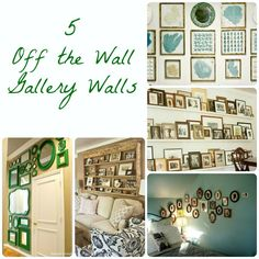 5 Off the Wall Gallery Walls from Eclectically Vintage