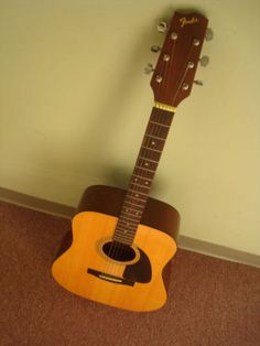 Fender acoustic guitar...wish my dad could have taught me. I will learn one day!