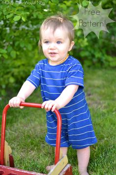 Simply Summer Romper - free pattern and tutorial from If Only They Would Nap!