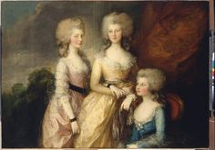 The Three Eldest Princesses, Charlotte, Princess Royal, Augusta and Elizabeth - Gainsborough 1784 - Category:Female portraits by Thomas Gainsborough - Wikimedia Commons Rey George, King George, King Henry, Henry Viii, Thomas Gainsborough, Uk History, History Books, Asian History, Tudor History