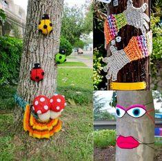 Yarn Bombing Art....... Upcycled Textiles, Yarn Bombing, Art, Art Background, Kunst, Performing Arts