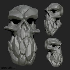 ArtStation - Daily Practise #2 - Skull with jaw this time!, Jakob Gavelli
