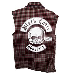Check out Black Label Society Red Flannel Button Down Vest on @Merchbar.