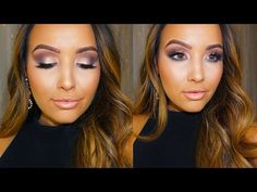 ▶ Smokey Gray & Champagne Eyes Makeup Tutorial by the sweet and beautiful Amanda Ensing using Makeup Geek's Latte and Barcelona Beach eyeshadows along with Afterglow pigment!