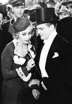 """Joan Blondell and James Cagney in """"Footlight Parade"""" (1933)-My favorite movie ever!! xx"""