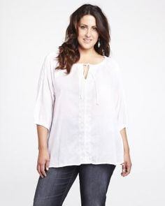 embroidered peasant blouse #AdditionElleOntheRoad. Addition Elle, Peasant Blouse, Size Clothing, Plus Size Outfits, Tunic Tops, Summer, Clothes, Women, Fashion