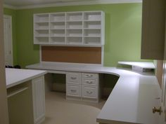 Run your home business with your spouse?  Now you both have desk space and lots of common area for supplies.