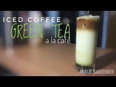 Green Tea Coffee, Iced Coffee, Beverages, Drinks, Drinking Tea, Bartender, Recipies, Milk, Snacks