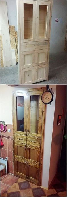 Mind Blowing Projects That Transform Old Wood Pallets Into Fabulous Things: Are you ready to catch up with some of the amazing and yet simple recycling shipping wooden pallet ideas. Handmade Furniture, Repurposed Furniture, Pallet Furniture, Furniture Making, Pallet Door, Pallet House, Pallet Crafts, Pallet Projects, Pallet Ideas