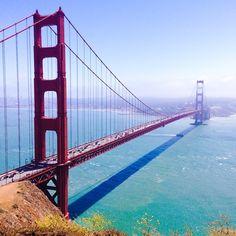 So stunning  The Golden Gate Bridge, San Francisco, California