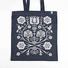 Nákupné tašky - Taška Klinčeky sivá - 6163893_