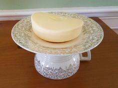 Tea cup soap dish