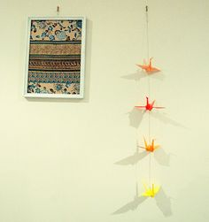 Paper crane garland