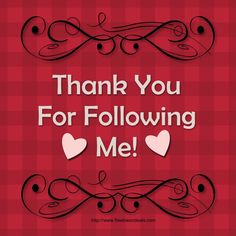 Thanks a bunch to all those who are following me! xoxoxox