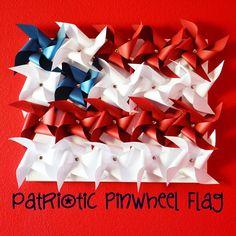 Polkadots on Parade: Patriotic Pinwheel Flag!