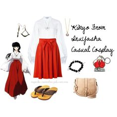 Kikyo From InuYasha Casual Cosplay, created by cupcake-curiosities on Polyvore