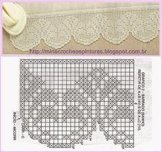 Hobby lavori femminili - ricamo - uncinetto - maglia: schema uncinetto bordura2