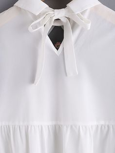 Online shopping for Embroidered Sheer Neck Ruffle Cuff Tie Back Top from a great selection of women's fashion clothing & more at MakeMeChic.COM.