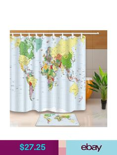 Black white fabric shower curtain liner polyester bath mat bathroom black white fabric shower curtain liner polyester bath mat bathroom decor set products pinterest products gumiabroncs Image collections