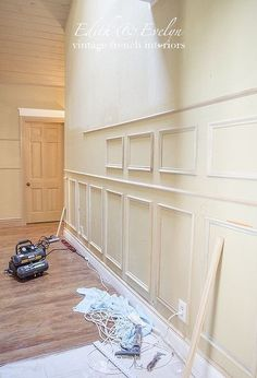 creating a grand foyer with paneled walls, diy, foyer, home improvement