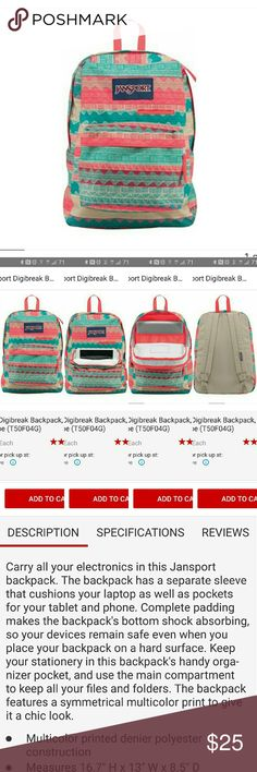 NWT! JanSport Aztec Backpack New with tags! Specs can be seen in the third picture Jansport Bags Backpacks