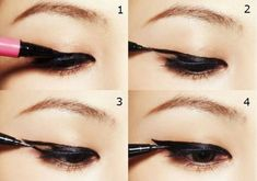 Eyeliner now I know how to put it on!