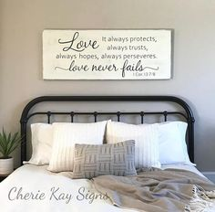 Great Master Bedroom Wall Decor Love Never Fails 1 Corinthians