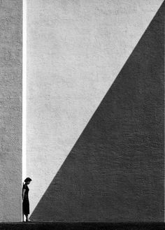 "fotojournalismus: ""Approaching Shadow, Photo by Fan Ho. Fan Ho is one of Asia's most beloved street photographers, capturing the spirit of Hong Kong in the and "" Minimal Photography, Shadow Photography, Photography Series, Portrait Photography, Photography Ideas, Negative Space Photography, Classic Photography, Funny Photography, Photography Lighting"